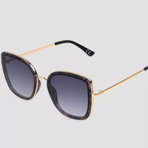Tortoise Shell Print Brown Square Sunglasses